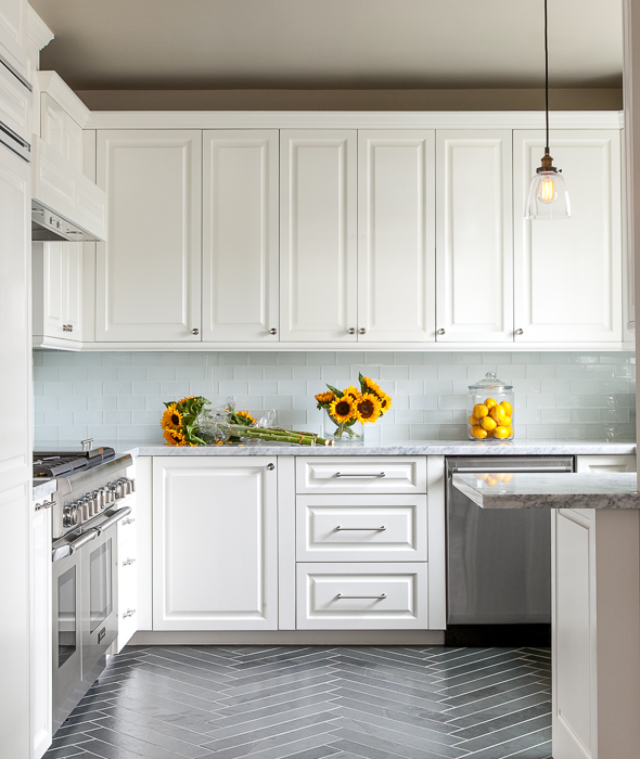 Herringbone kitchen by grant k. gibson at grantkgibson.com
