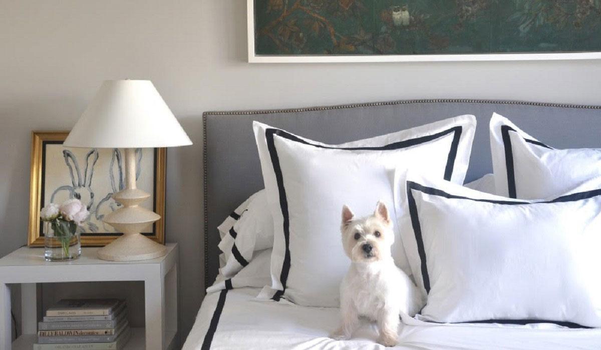 Grant K. Gibson Bedroom with Westie
